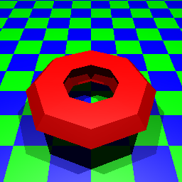 A mesh object with a plane