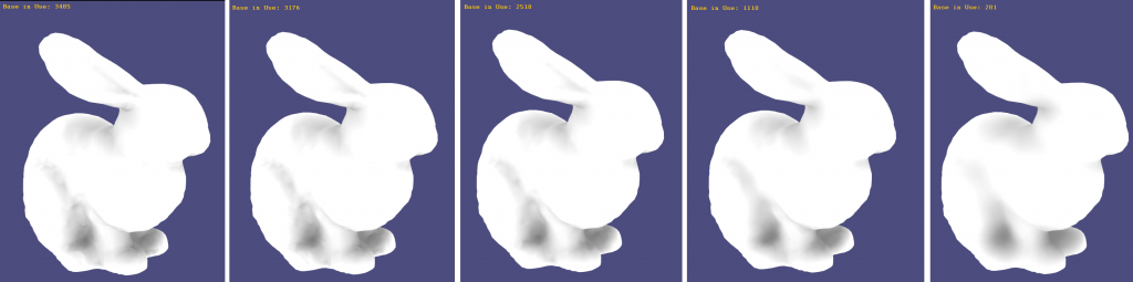 Bunny with 3485 vertices